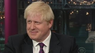Boris Johnson's awkward moments on the Late Show with David Letterman