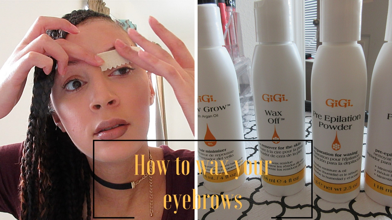 How to wax your eyebrows at home using Gigi wax kit. - YouTube