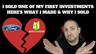 I sold one of my first investments! Here's how much I made and Why I sold!