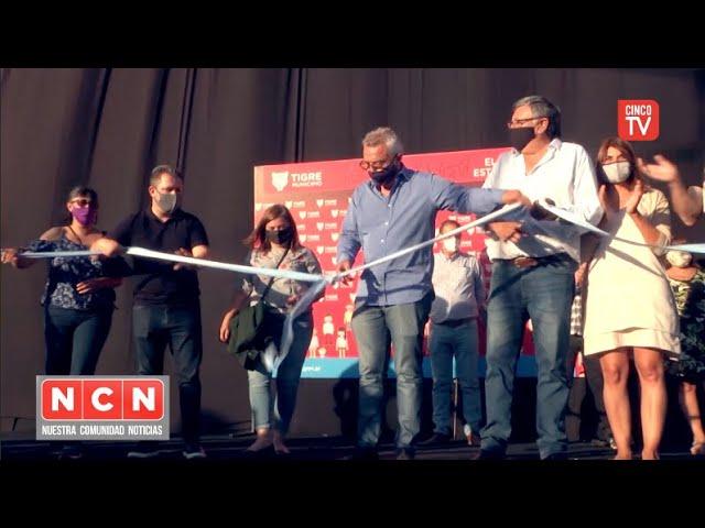 """CINCO TV - Julio Zamora inauguró de la senda peatonal y aeróbica """"Abuelas de Plaza de Mayo"""""""