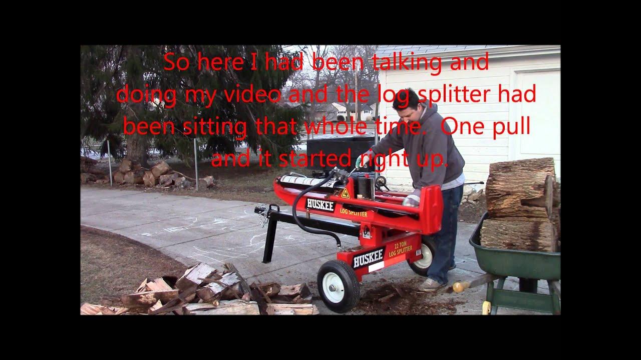 Huskee 22 Ton Log Splitter Cold Start Problem