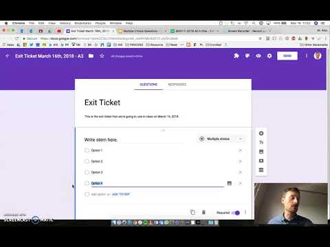 Making a Multiple Choice Question on Google Forms