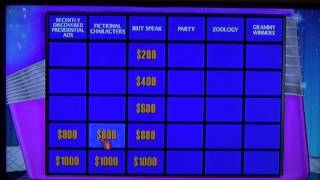 Jeopardy for the Wii Game 1