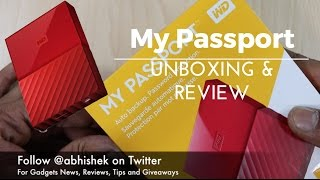 WD My Passport Portable Hard Drive Unboxing and Review   Gadgets To Use