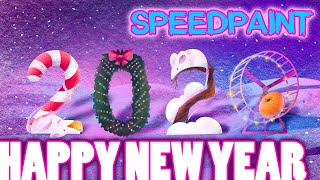 HAPPY NEW YEAR 2020 Full HD DRAWING HOLIDAY speed paint Wallpaper