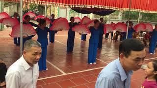 Hội làng Trụ Hạ 2019 - múa quạt tháp mười hoa sen