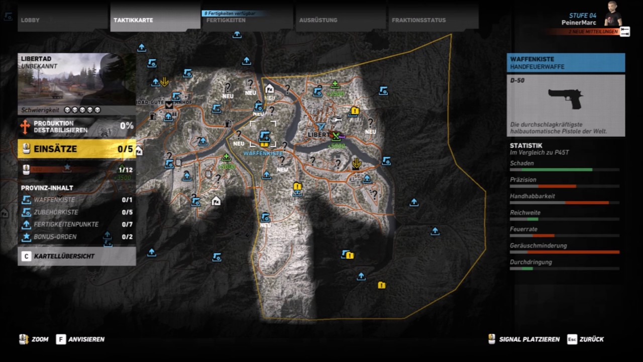 Ghost Recon Wildlands Karte.Peinerzockt Ghost Recon Wildlands Fundorte Waffen Und Zubehörkisten