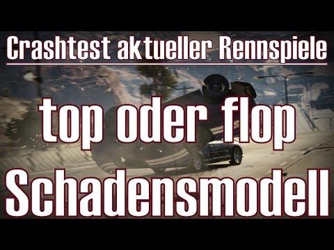 Crashtest aktueller Rennspiele ★ top oder flop ★ Schadensmodell [Deutsch/HD]