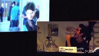 Dylan O'Brien watching Teen Wolf bloopers of season 2