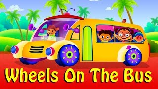 wheels on the bus go round and round nursery rhyme children song