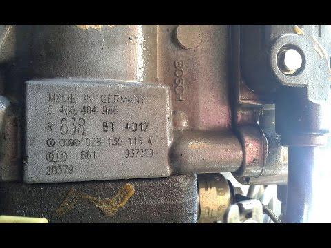 Замена прокладки на ТНВД (Топливный насос высокого давления) Passat 1,9TDI 90 и 100 Л/С
