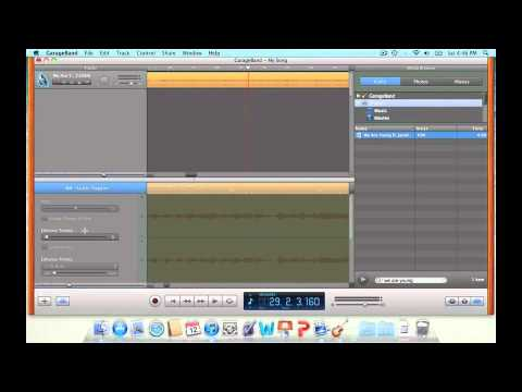 How to make a audio mashup in garageband on the mac