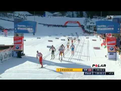 Eldar Roenning sprints to victory - Tour de Ski 8th Stage 20 km Mass Start