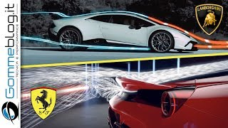 Ferrari 488 Pista Vs Lamborghini Huracan Performante | How To Made A Fast Interior Aerodynamic