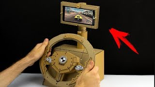 How to Make a Gaming Steering Wheel from Cardboard