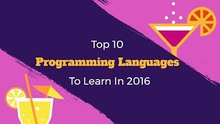 Top 10 Programming Languages to Learn in 2017