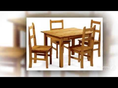 Corona Mexican Style Antique Distressed Pine Dining Set With 4 Chairs