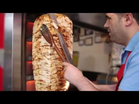 istanbul street food | chicken doner kebab |  turkey street food