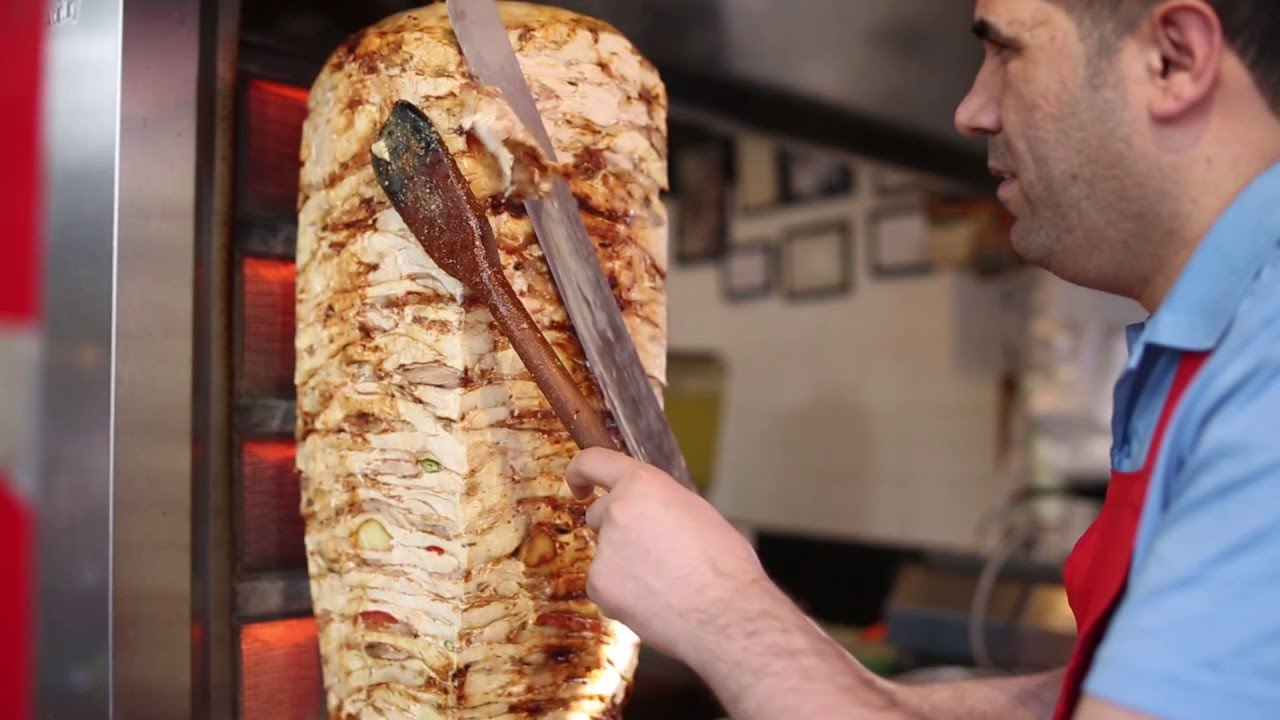 Istanbul Street Food Chicken Doner Kebab Turkey Street Food Youtube