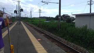 JR七尾線観光特急花嫁のれん3号和倉温泉行き通過 宝達にて