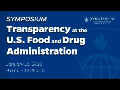 Forum on Transparency at the US Food and Drug Administration