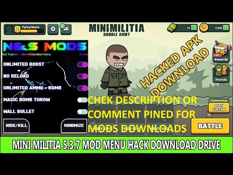 Mini Militia Unlimited Helth+Guns+Jett Pack+Boost+Reloded+Pro Android Game Mod By Emmu - YouTube