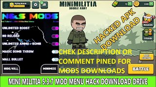 Mini Militia Unlimited Helth+Guns+Jett Pack+Boost+Reloded+Pro Android Game Mod By Emmu