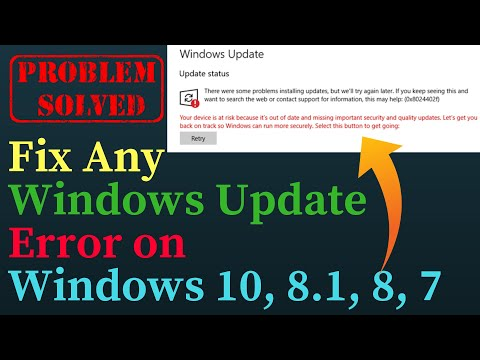 Fix Any Windows Update Error On Windows 10, 8.1, 8, 7