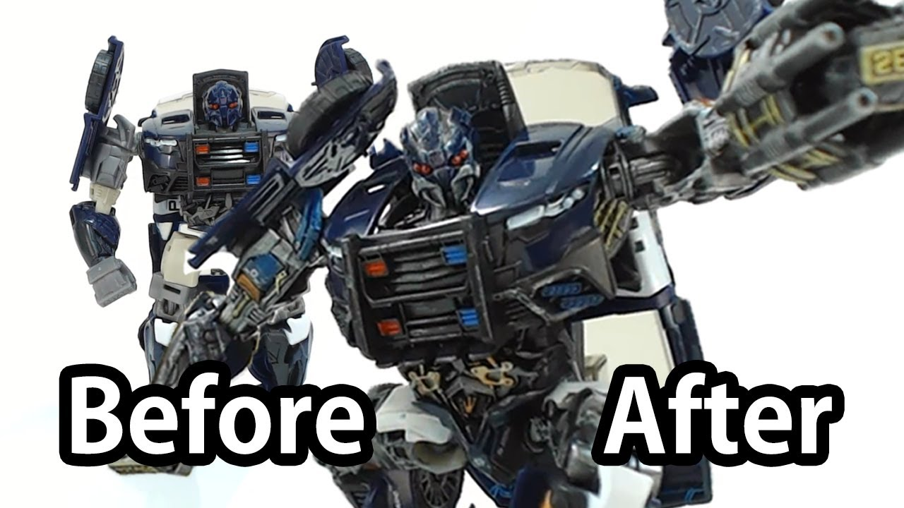 how to customize transformers 5 toy? (before & after) - barricade