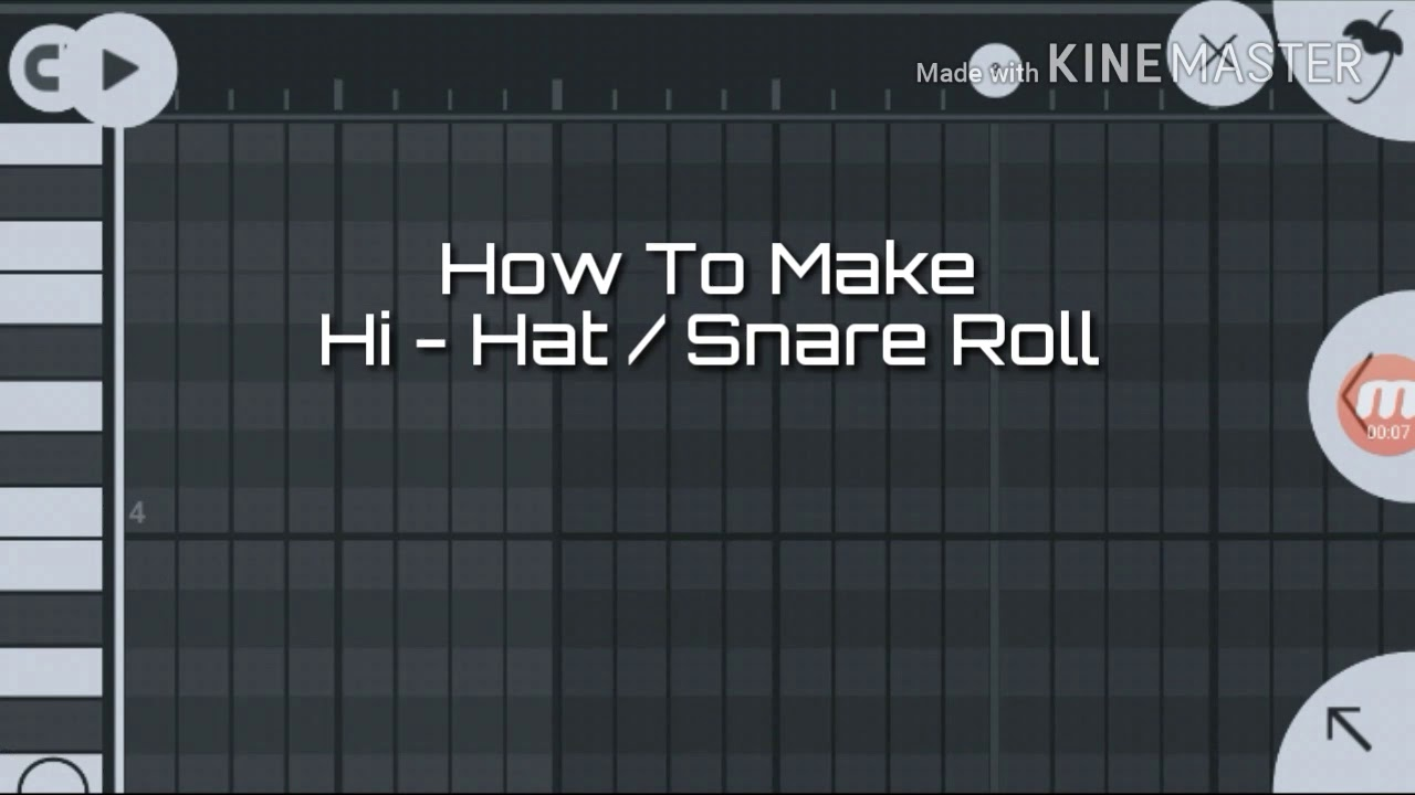 How To Make Hi Hat Snare Roll In Fl Studio Mobile Tutorial 7 Youtube