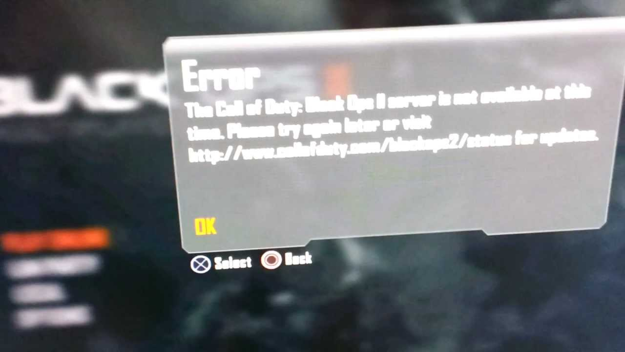 Black Ops 2 Error Repair's And Resons Why They Start