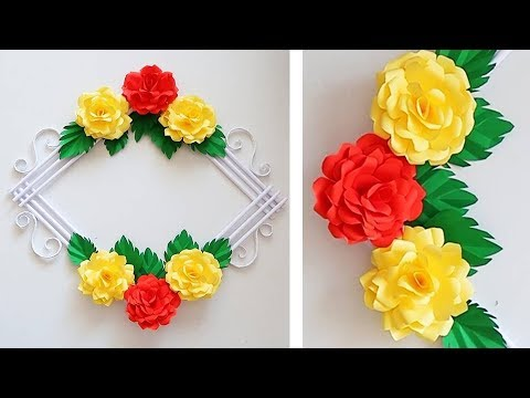 PAPER ROSE WALL HANGING   PAPER FLOWER WALL HANGING   PAPER ROSE WALL CRAFT 1907