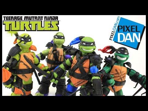 Super Ninjas Teenage Mutant Ninja Turtles Nickelodeon Figures Video Review