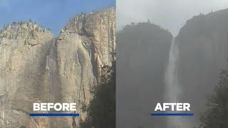 Storm Brings Iconic Yosemite Falls Roaring Back To Life