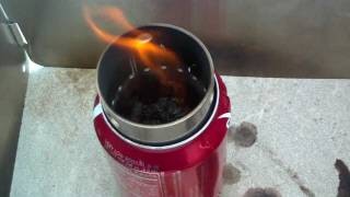 Worldstove's Beaner Campstove - First Burn