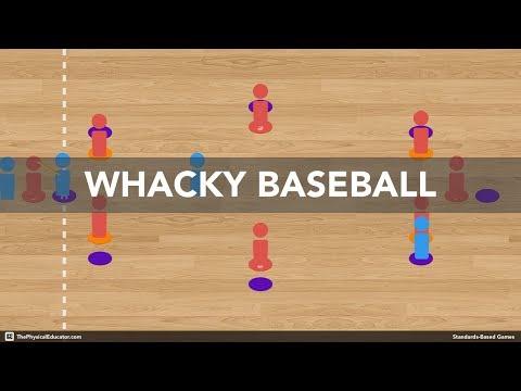 Whacky Baseball - Physical Education Game (Striking & Fielding)