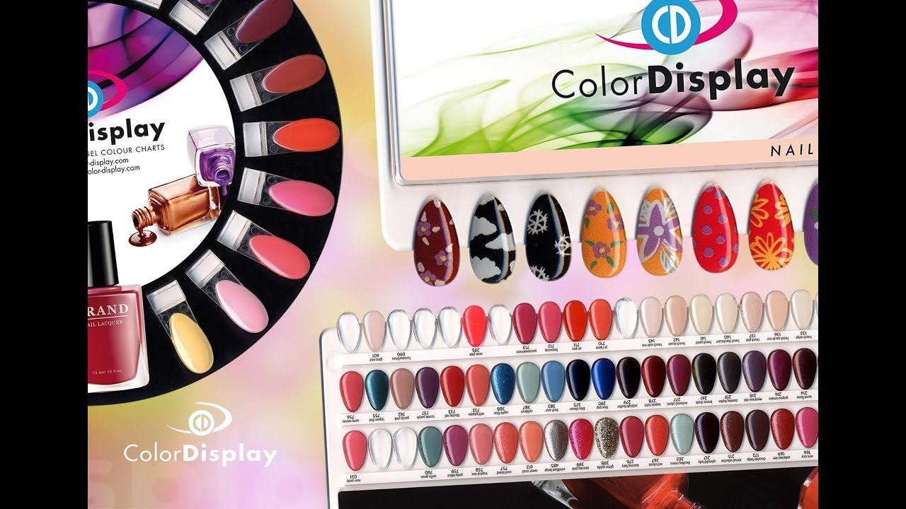 Colordisplay Nail Polish Charts Palettes And Gel Color Displays