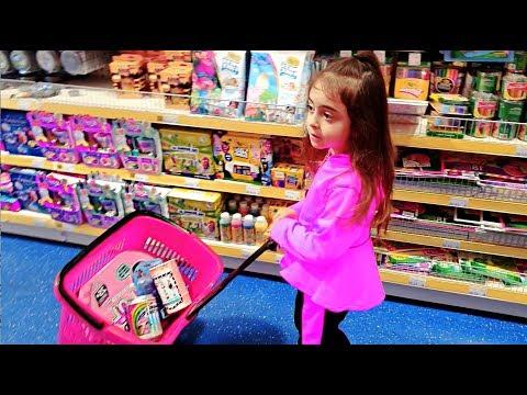 Emily Doing Shopping Buying Lots of Toys