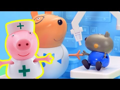 Peppa Pig - Peppa Pig Stop Motion: Peppa Pig at the Hospital  - Learning with Peppa Pig