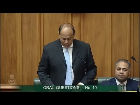 Question 10 - Paul Goldsmith to the Minister of Employment