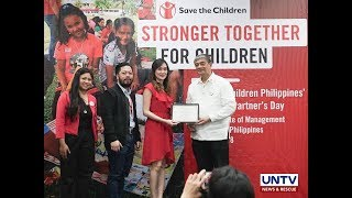 Save the Children Philippines recognizes Wish Music Awards' help to children in need