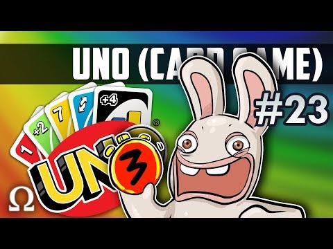 SILLY RABBIDS TEAM PLAY! (2vs2) | Uno Card Game #23 Ft. Mini
