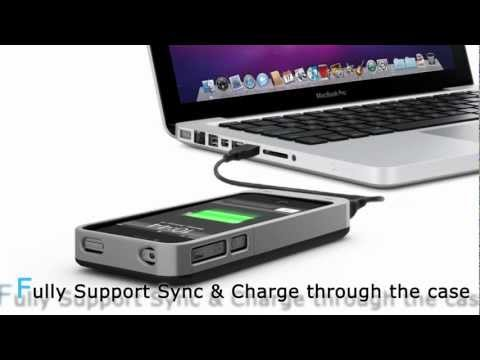 uNu DX Plus Battery Case for iPhone 4 4S (2400mAh) - Double iPhone 4 4S battery life