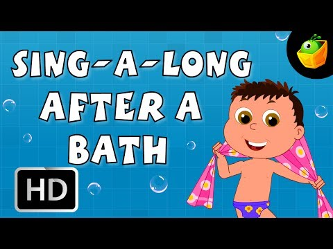 Karaoke: After A Bath - Songs With Lyrics - Cartoon/Animated Rhymes For Kids