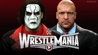 WWE Wrestlemania 31 - Sting vs Triple H - The Vigilante vs The Game! - WWE 2K15
