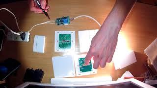 Настенные беспроводные выключатели 433 мГц.