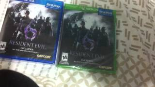 unboxing Resident Evil 6 hd PS4  XBOX ONE capcom