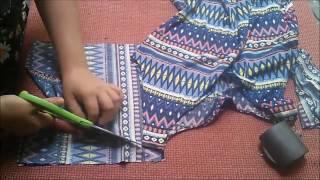 Como confeccionar vestido largo con mangas facilísimo 💁💄