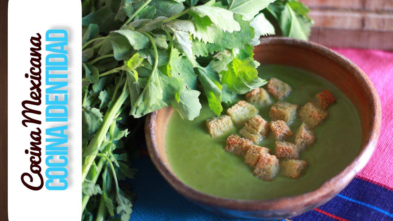 Cómo hacer sopa de quelites... Yuri de Gortari - YouTube