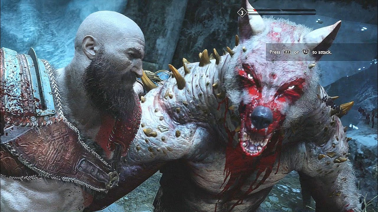God of War 4 2018 StoneBeard King Boss Fight  No Damage Walkthrough Part 37 PS4 PRO